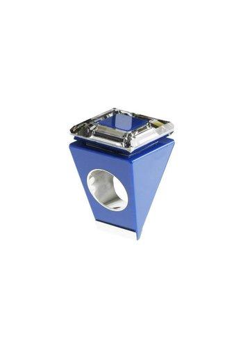 Ostrowski Design Big Ring vierkant blauw-zilver
