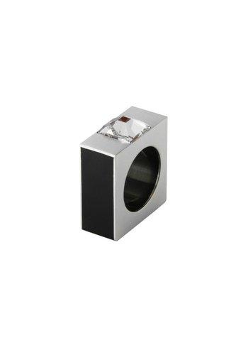 Ostrowski Design Ring Quadro zwart