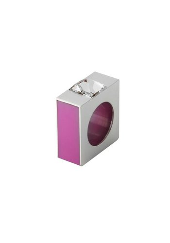 Ostrowski Design Ring Quadro roze