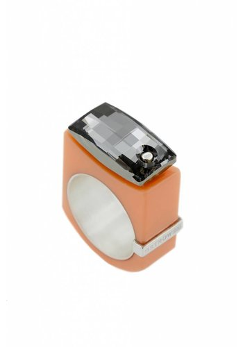 Ostrowski Design Ring Chic pastel oranje