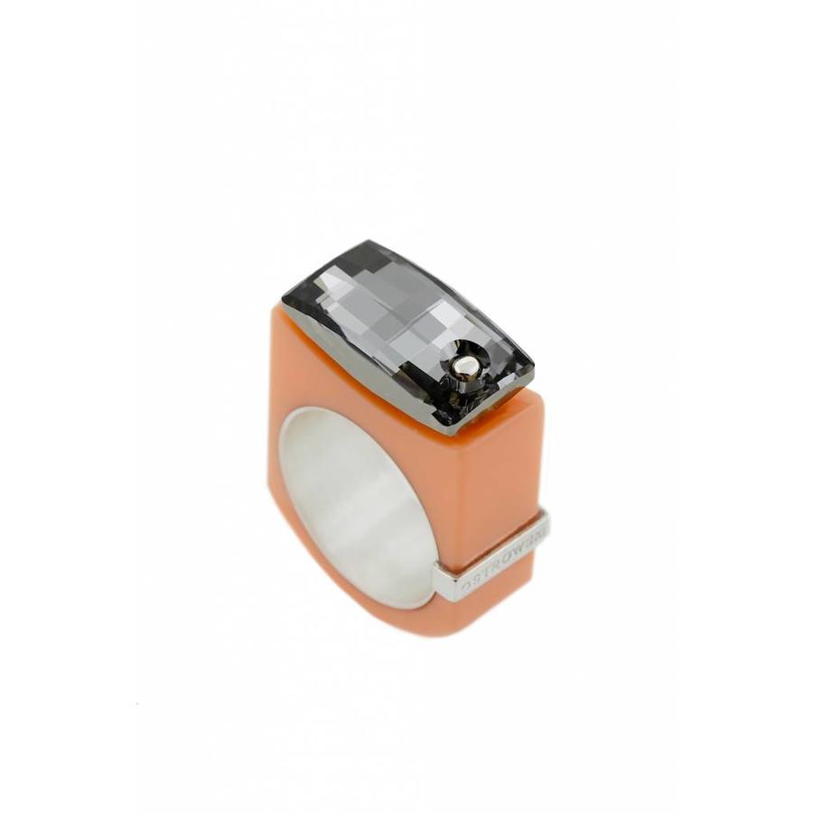 Ring Chic pastel oranje-1