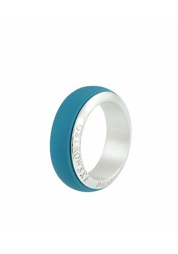 Ostrowski Design Ring Joy Line deep blue - zilver