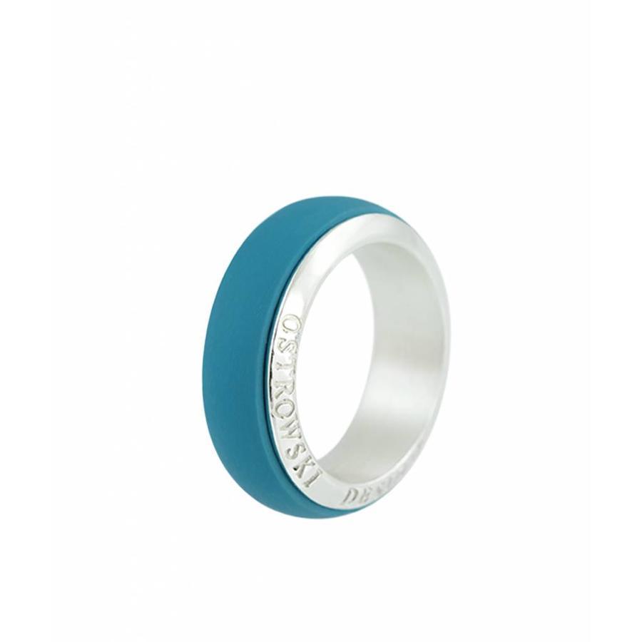 Ring Joy Line deep blue - zilver-1