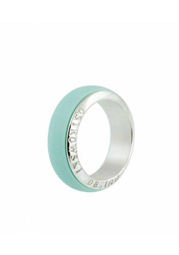 Ostrowski Design Ring Joy Line mint - zilver