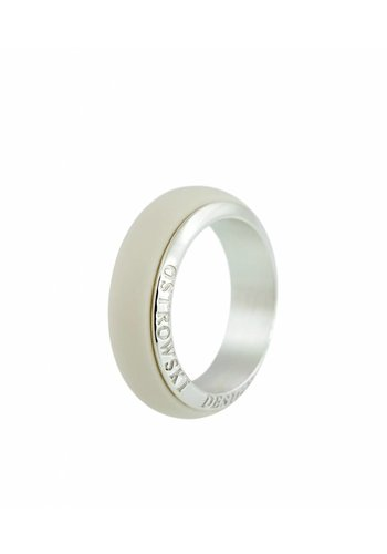 Ostrowski Design Ring Joy Line cappuccino - zilver