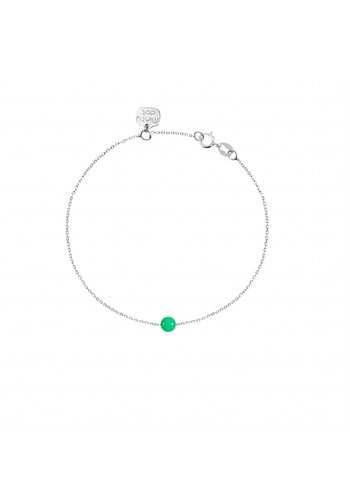 "Minty dot Armband ""natural""Chrysopraas - zilver"