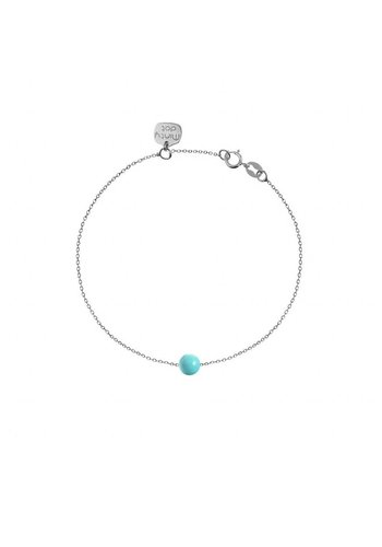 "Minty dot Armband ""forget me not""baaletje- zilver"