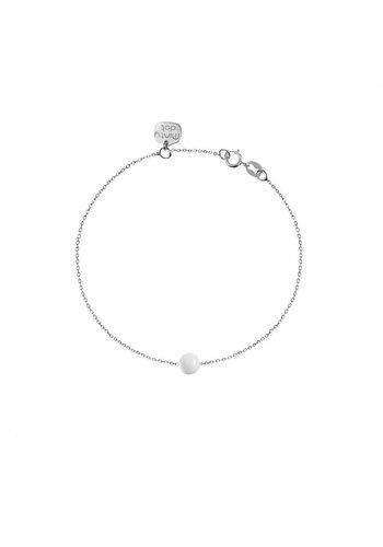 "Minty dot Armband ""forget me not"" baaletje - zilver"
