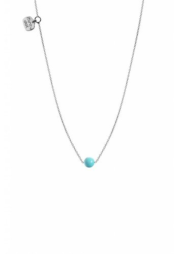 "Minty dot Ketting ""forget me not"" balletje - zilver"