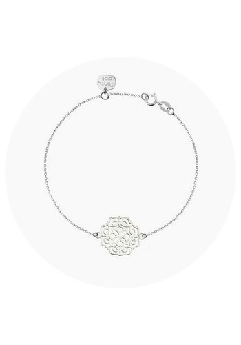 """Minty dot Armband """"lace"""" groot - zilver"""