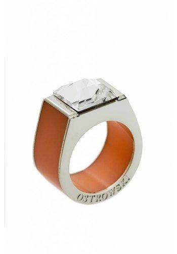 Ostrowski Design Ring Classic pastel oranje