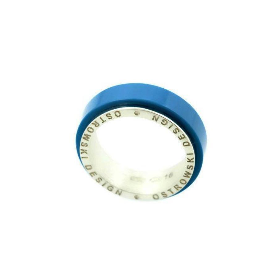 Ring Joy Line deep blue - zilver-2