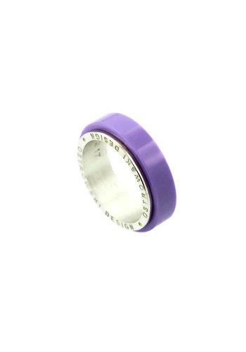 Ostrowski Design Ring Joy Line lila - zilver