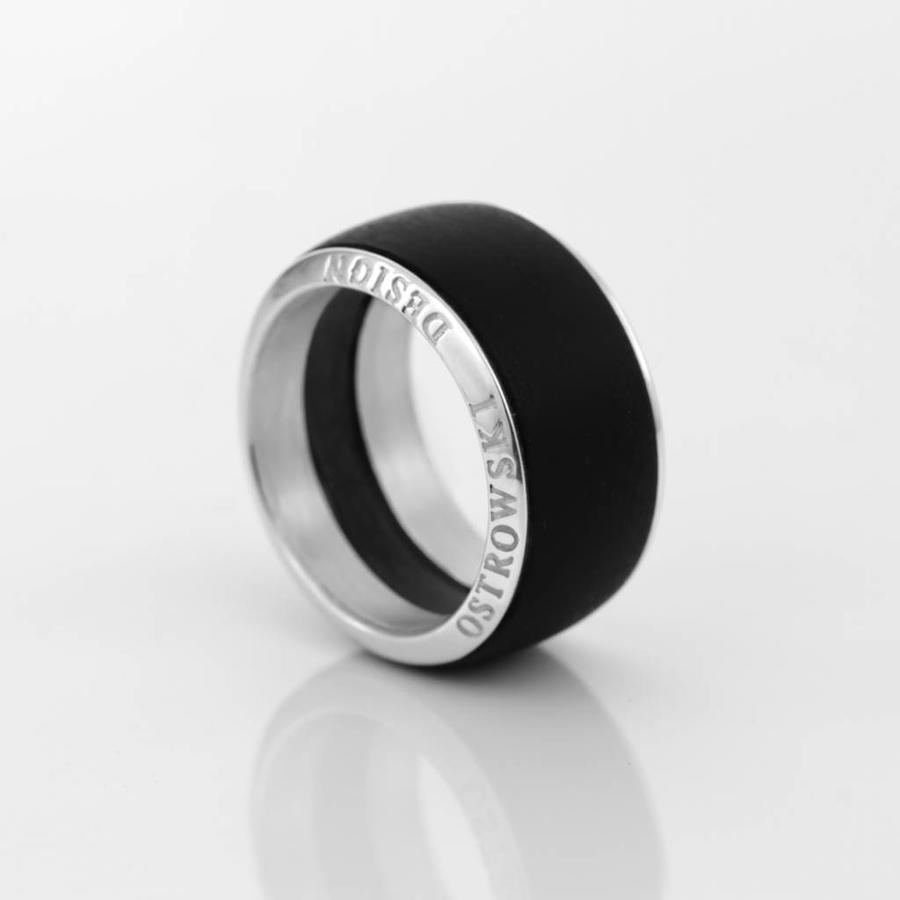 Ring Joy Line max zwart - zilver-1