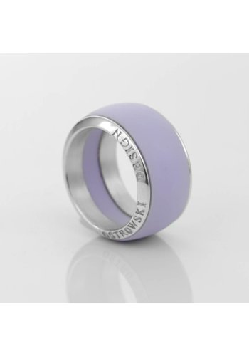 Ostrowski Design Ring Joy Line max lila - zilver