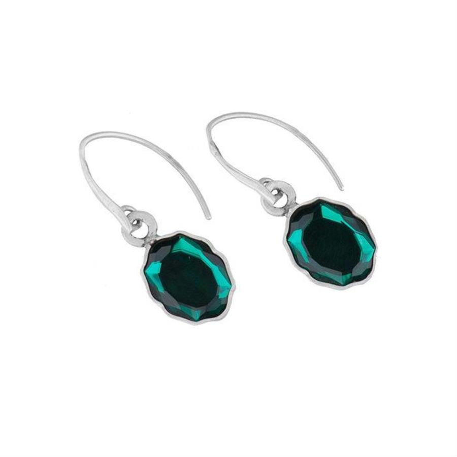 """Oorbellen """"moroccan rose"""" MSA4521 Emerald-1"""