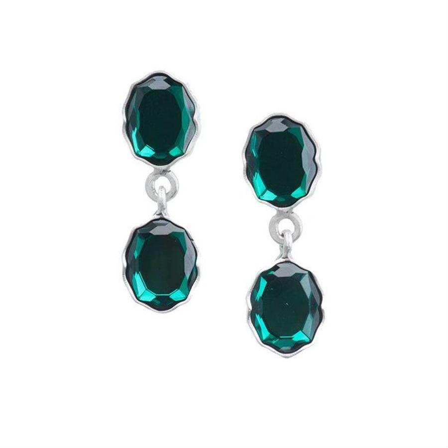 """Oorbellen """"moroccan rose"""" MS4521 Emerald-1"""