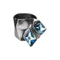 "thumb-Ring ""aurora"" MR5527"" met Swarovski kristal Berm Metal Blue-1"