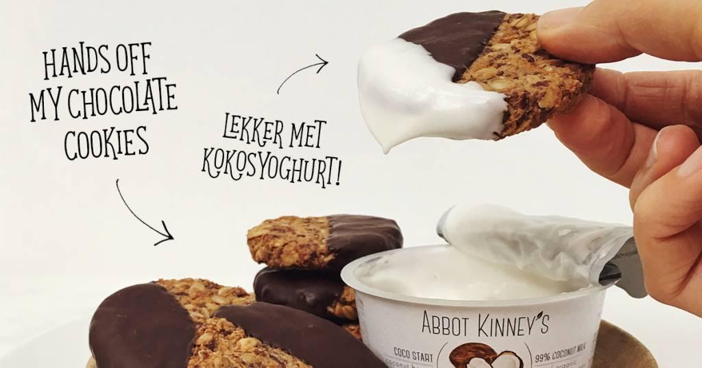 RECEPT: Hands Off My Chocolate dipped granola cookies met Abbot Kinney's Coco Start