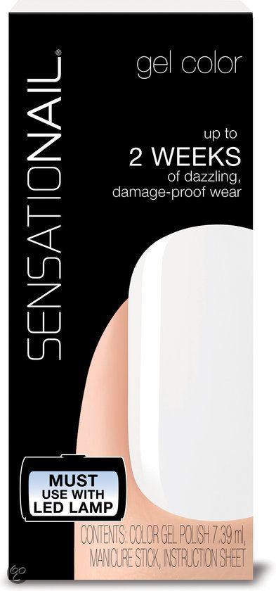 Sensationail | Gel Polish - White Lily