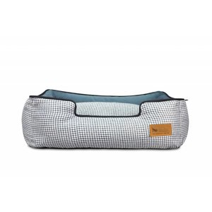 P.L.A.Y. Lounge Bed - Houndstooth Blue/White