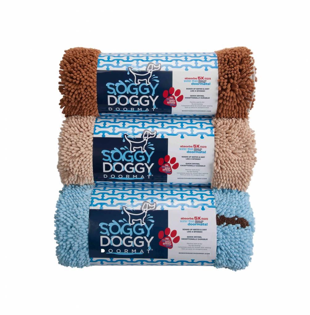 Hondendroogloopmatten en hondenhanddoeken van Soggy Doggy