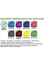 Amaco AMACO® Semi-Moist Underglaze watercolour set 109