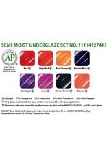 Amaco AMACO® Semi-Moist Underglaze watercolour set 111