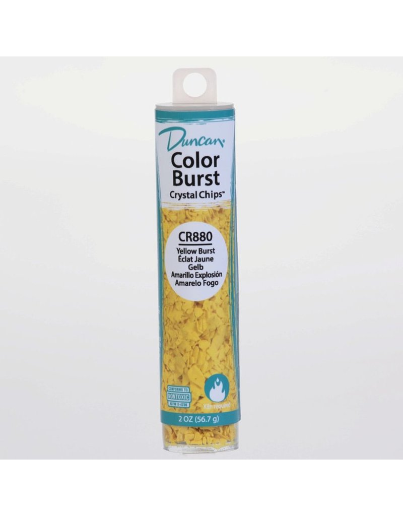 Potterycrafts Duncan Colour Burst Crystal Chips Yellow Burst