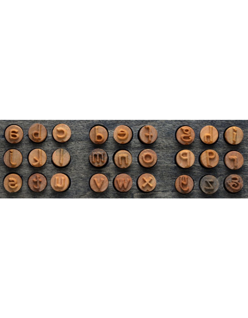 MKM tools Wooden Font set stamps set (27 stamps)