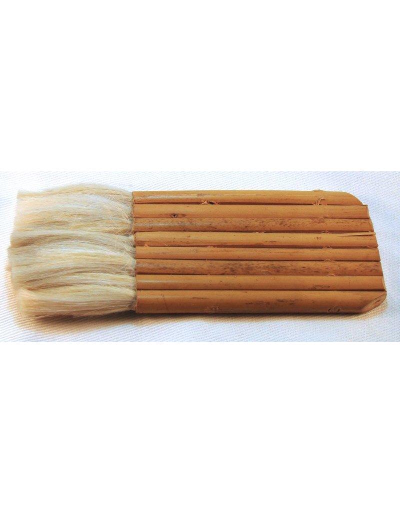 8 Pipe Bamboo Brush (Goat) 65mm