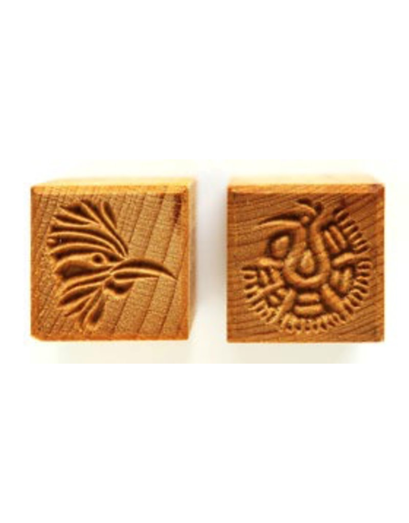 Bird head and Peacock Stamp