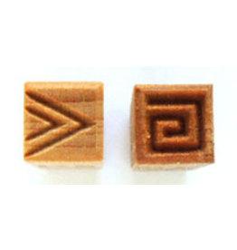 Triangles & greek key Stamp