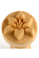 Flower (side) stamp (2.5cm)