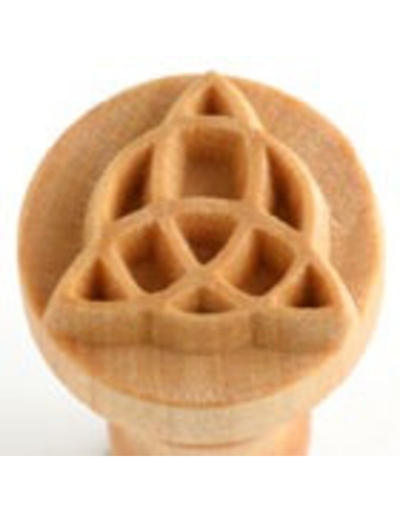 Patterned sphere logo stamp (2.5cm)