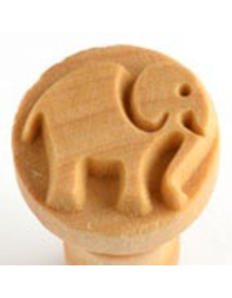 Elephant (rounded) stamp (2.5cm)