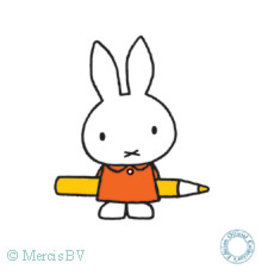 Miffy with a Pencil