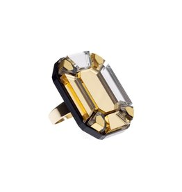 Gem cut ring - gold
