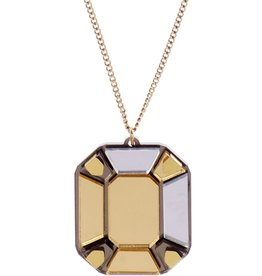 Gem cut pendant - gold
