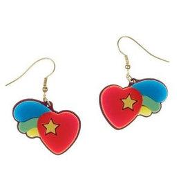 Psychedelic Heart Earrings