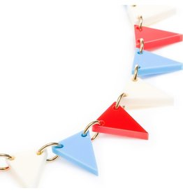 Bunting Necklace - Red/white/blue