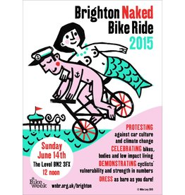 Brighton Naked Bike Ride 2015, poster