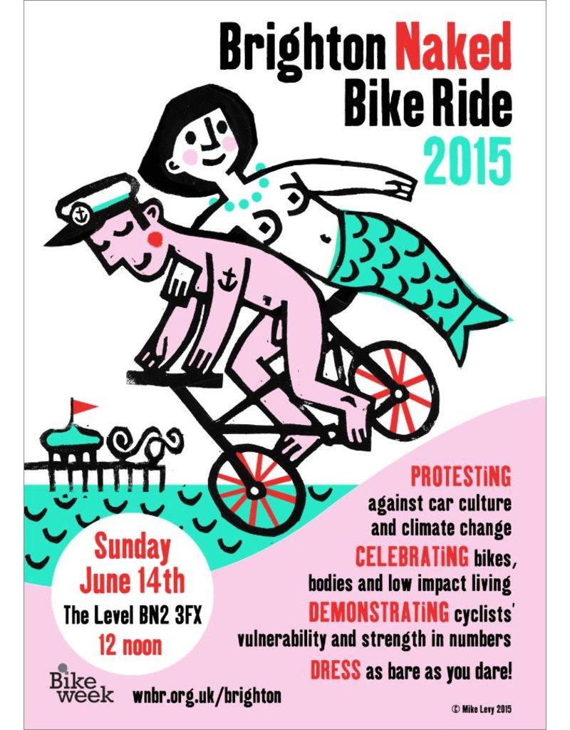 Brighton Naked Bike Ride 2015, poster