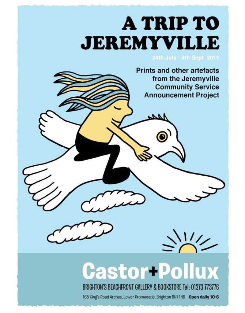 A Trip to Jeremyville 2015, exhibition poster