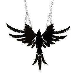 Raven Necklace - Black