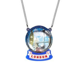London Snow Globe Necklace