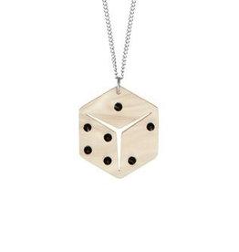 Lucky Dice Necklace - Cream