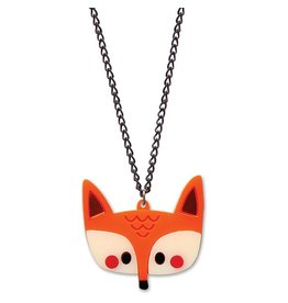 Fox Neclace on Silver Plated Chain