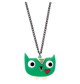 Owl Necklace on Silver Plated Chain