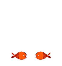 Fish Earrings (orange)